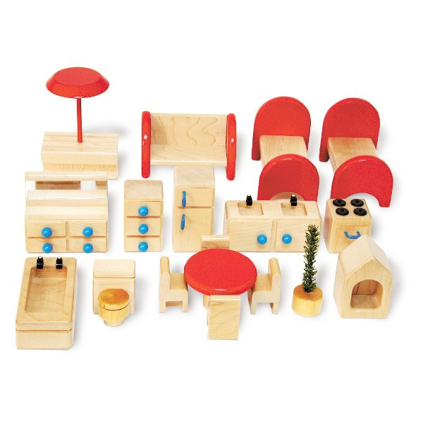 Family Doll House Furniture Set Tag Toys
